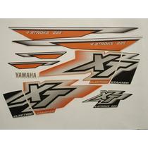 Adesivo Xt225 2001 Laranja, Faixa Original Completa