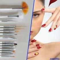 Kit Com 15 Pincéis Para Unhas (nail Art) - Frete Grátis*