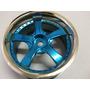 4 X Roda Automodelo Plastico 1/10 Offset 3.mm Azul 5 Pontas