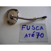 Retrovisor Fusca Rosca Coluna! Metal Cromado! Novo!