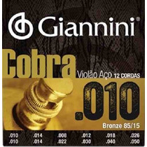 Encordoamento Giannini Cobra Para Violão 12 Cordas-casa Matt