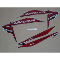 Kit Adesivos Honda Nxr150 Ks Mix Bros 2010 Preta - Decalx