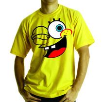 Camiseta Ou Baby Look Infantil Bob Esponja