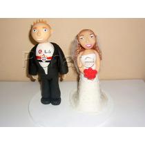 Topo De Bolo Noivinhos Casamento Em Biscuit Personalizado