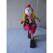 Brinquedo Marionete De Madeira Pinóquio E Palhacinho(a)