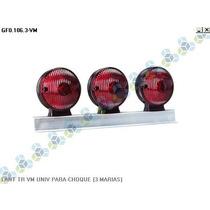 Lanterna Traseira Vermelha Universal Para-choque (3 Marias)