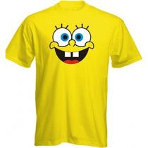 Camiseta Bob Esponja - Camisas Infantil E Adulto