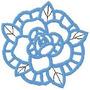 B357 Coleção Bordados Computadorizados Flores Rechilieu