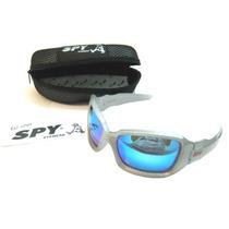Óculos De Sol Spy Original Madox 51 Prata/cinza - Lente Azul