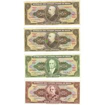 Lote 10 Cédulas Dinheiro Antigo De Cruzeiros, Coleção Lote 3