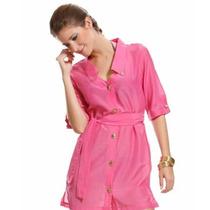 Vestido Pink Mar Rio Novo Tam Único