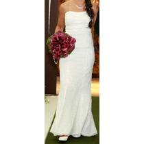 Vestido De Noiva Rendado - Lindo - Tamanho 36/38