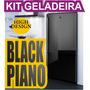 Kit Adesivo Skin Geladeira Envelopamento Black Piano Preto