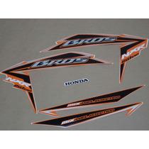 Kit Adesivos Honda Nxr150 Esd Mix Bros 2010 Laranja - Decalx