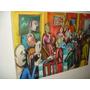 Pintura - Óleo Sobre Tela 50x70 - Pessoas Conversando 4