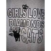 Blusa Girls Love Diamonds And Cats Nova M!
