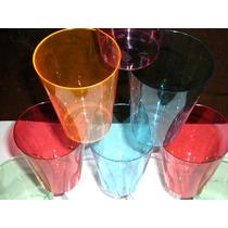 Copos E Taças Em Acrílico Colorido Kit Com 10 Peças(300ml))