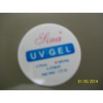 1 Pote Esmalte Gel Ultra Violeta Manicure Fazer Unha Branca