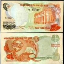 Vietnã Do Sul 500 Dong 1970 P. 28 Fe Cédula Belíssima