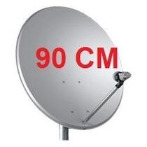 Antena 90cm Banda Ku+lnbf Universal+20m Cabo+ Kit Instalaçao