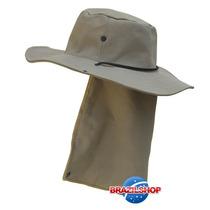 Chapéu Canavieiro Australiano Empreiteiro E Protetor De Nuca