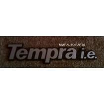 Emblema Tempra I.e. (prata Com Fundo Preto) - Mmf Auto Parts