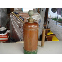 Pulverizador Antigo Excelsior Em Cobre E Bronze Cabo Madeira