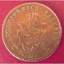 Alemanha-saxonia-moeda 5 Pfennige-1862-cobre