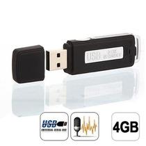 Micro Gravador Voz Audio Pen Drive Espião 4gb Espionagem