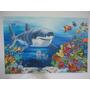 Quadro Tubarão Branco Fundo Do Mar 80 X 1,20 Pintura A Óleo