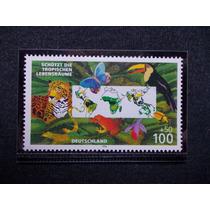 Alemanha 1996 Fauna Borboleta Aves Felino Répteis