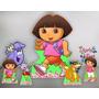 Dora Aventureira Kit Displays Mdf Festa Infantil Decoração