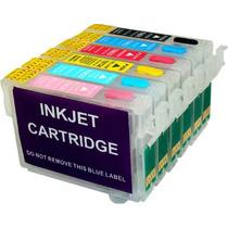 Cartucho Recarregável Epson T50 R290 R200 R220 + 600ml Tinta