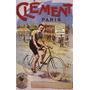Paris Bicicleta Homem Clemente Poster Repro