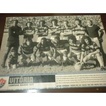 Poster Vitória Campeão Baiano 1972 Placar 21x27 Cm