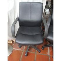 Cadeira Presidente Em Couro P.u. Preto