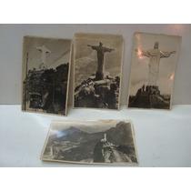 04 Antigas Fotos Do Cristo Redentor - Rio De Janeiro