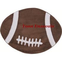 Tapete Bola De Futebol Americano Marrom 90cmx68cm Em Pelúcia