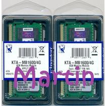 2x4gb = 8gb Sodimm Kingston 1600 Apple Imac Macbook Mac Pro
