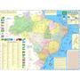 Mapa Geo Político E Rodoviário Gigante Do Brasil 1,20 X 0,90