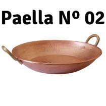 Paella De Cobre Artesanal Martelado 02 R & A Metais
