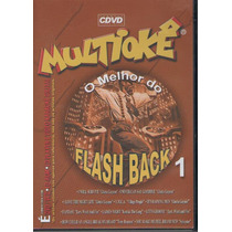 Dvd Multiokê - O Melhor Do Flash Back - 1 - Novo***