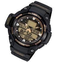 Relogio Casio Sgw 400h1b Ouro Termometro Barômetro Altimetro