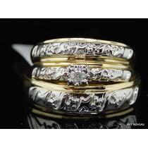 Anel Compromisso/casamento Com Brilhantes