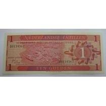 Antilhas Holandesas: Bela Cédula De 1 Gulden 1970 Fe