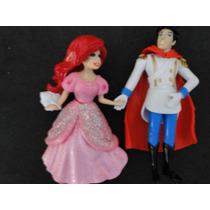 01 Par Bonecos Disney Princesa Ariel E O Principe