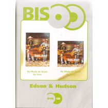 Dvd + Cd Edson & Hudson - Na Moda Do Brasil Ao Vivo - Novo**