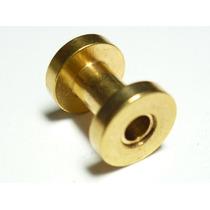 Piercing Orelha Alargador Aço Gold Dourado 4.0 Frete Grátis