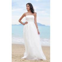 Vestido De Noiva Em Tule E Cetim - Branco E Outras Cores !