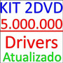 Kit 5.000.000 Drivers Atualizados São 2 Dvds Win 7 8 Xp 2000
